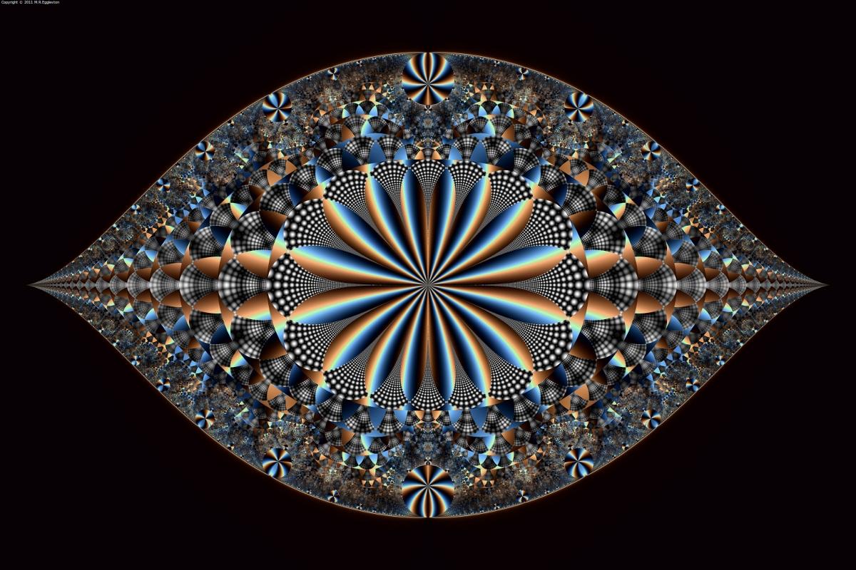 D Mandelbrot Structure Glass
