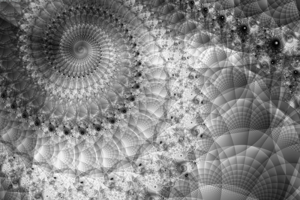 Spiral in Quilted Space