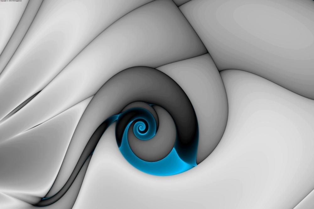 Fractures Curl Blue