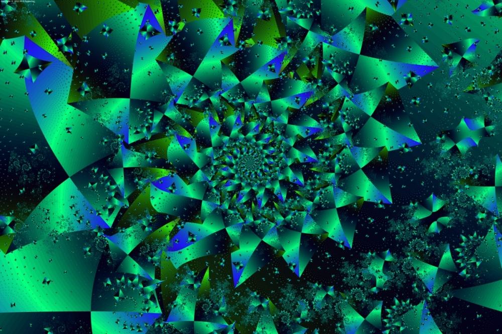 Iridescent Spiral