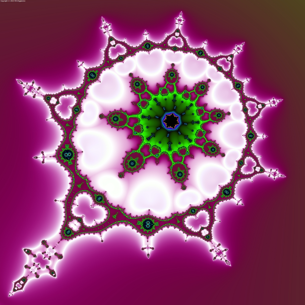 Baroque Green White Purple