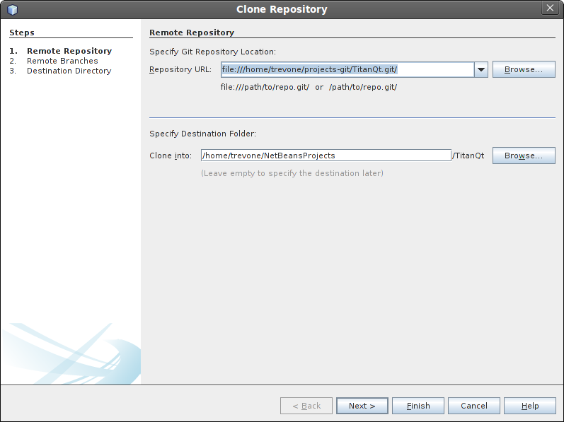 Cloning a repository step 2