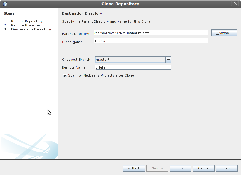 Cloning a repository step 4