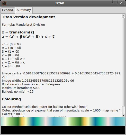 Example 2 parameter summary