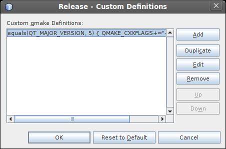 Adding the C++ standard option