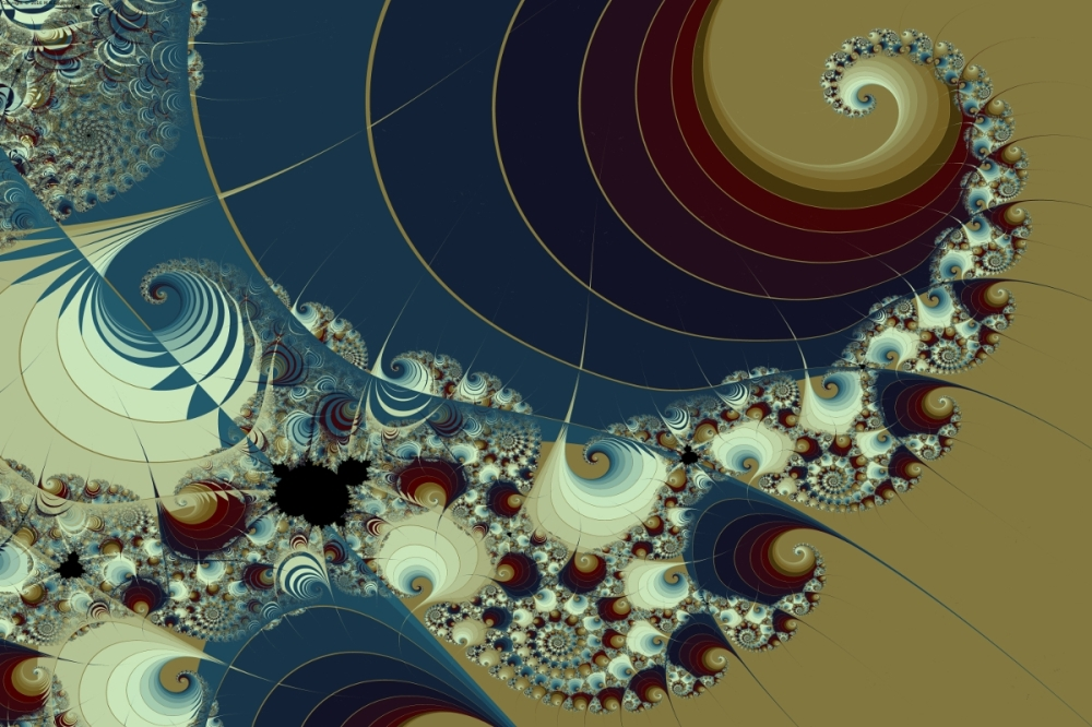 Waves Spirals and Mandelbrots No. 1