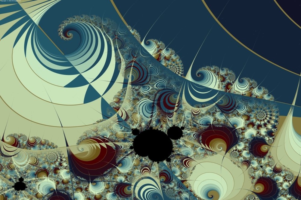 Waves Spirals and Mandelbrots No. 2